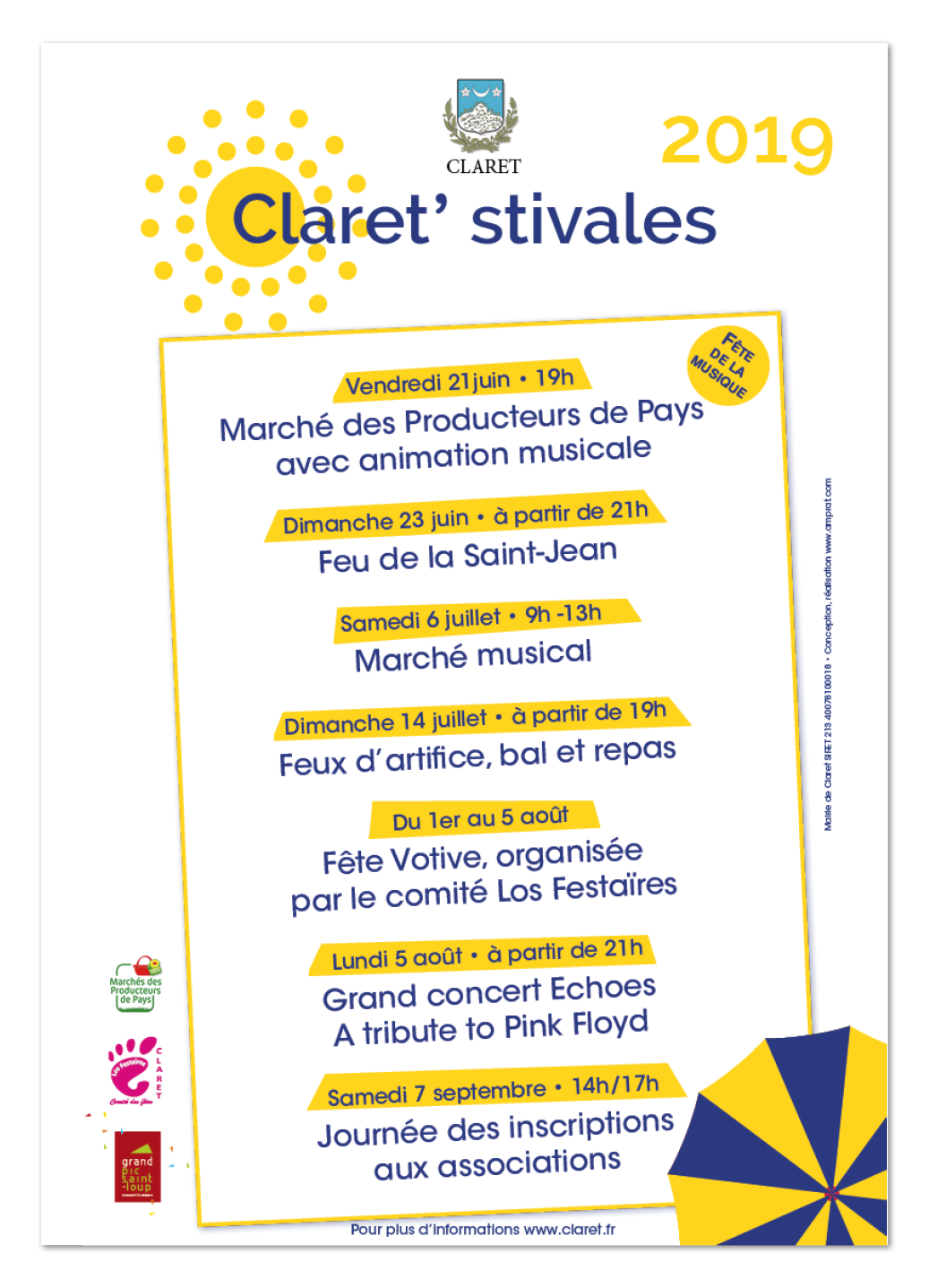Claret'sitvales ∙ Anne-Marie Prat ∙ Design graphique et web