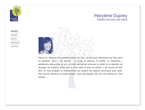 Site Marylène Duprey ∙ Anne-Marie Prat ∙ Design graphique et web