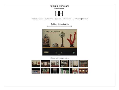 Site Nathalie Héricourt ∙ Anne-Marie Prat ∙ Design graphique et web