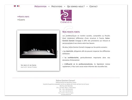 Site Scène Gestion Conseil ∙ Anne-Marie Prat ∙ Design graphique et web