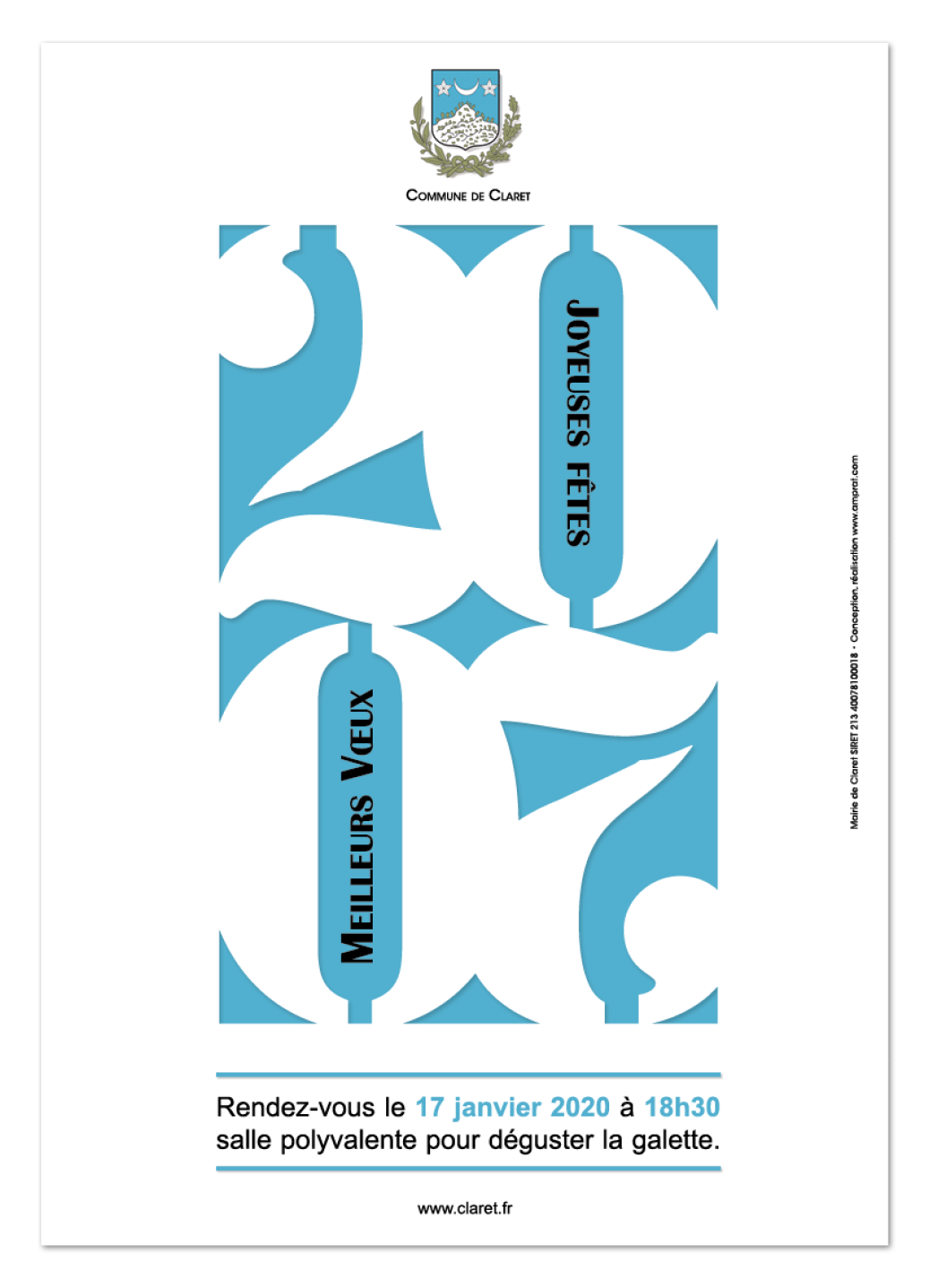 Vœux Claret 2020 ∙ Anne-Marie Prat ∙ Design graphique et web
